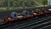 Vagones plataformas Renfe M y Mh 350.000 rojo